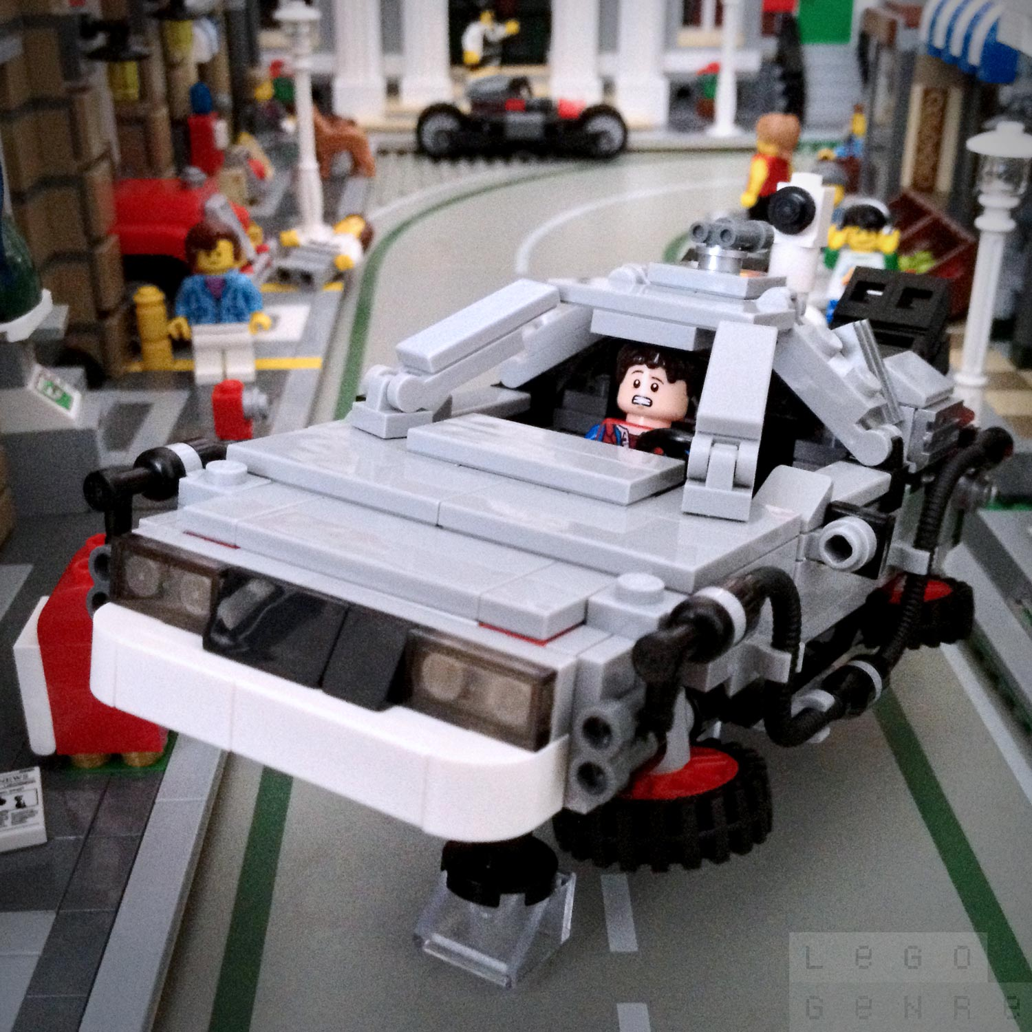 "LegoGenre 00306: ""Roads? Where we're going, we don't need roads."""