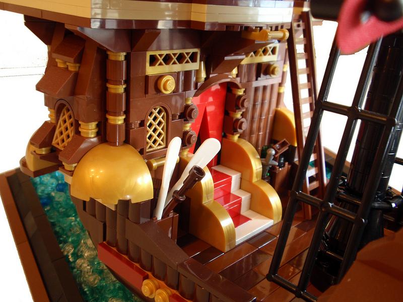 PippoZane's Lego Captain Cooks Galleon Detail