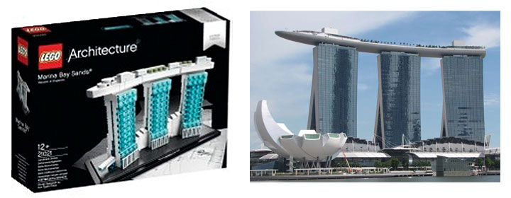 Lego Marina Bay Sands 21021 Architecture Set