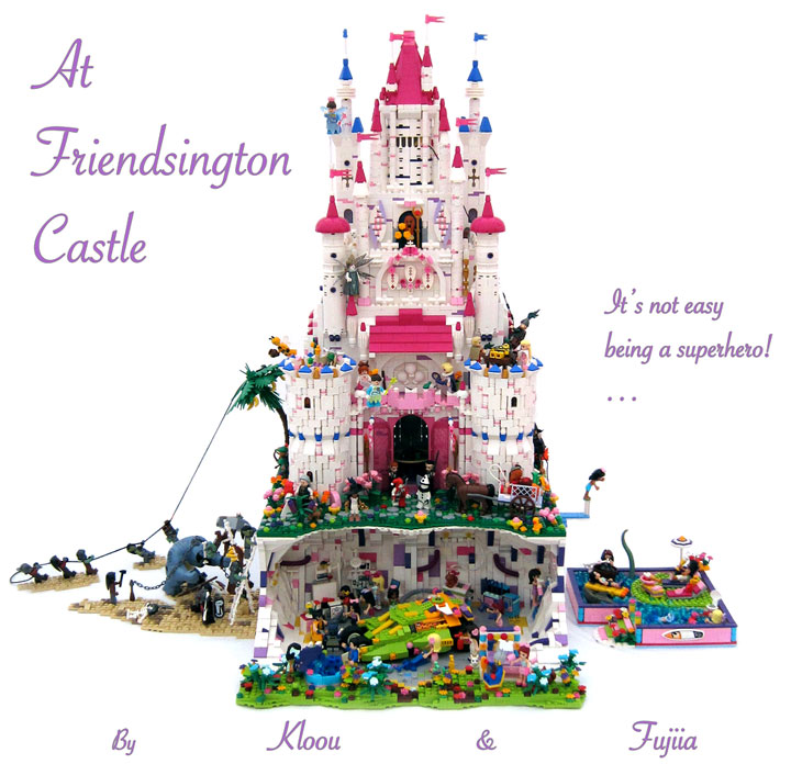 fujiia and Kloou's Lego Friends Castle: Friendsington Castle 01