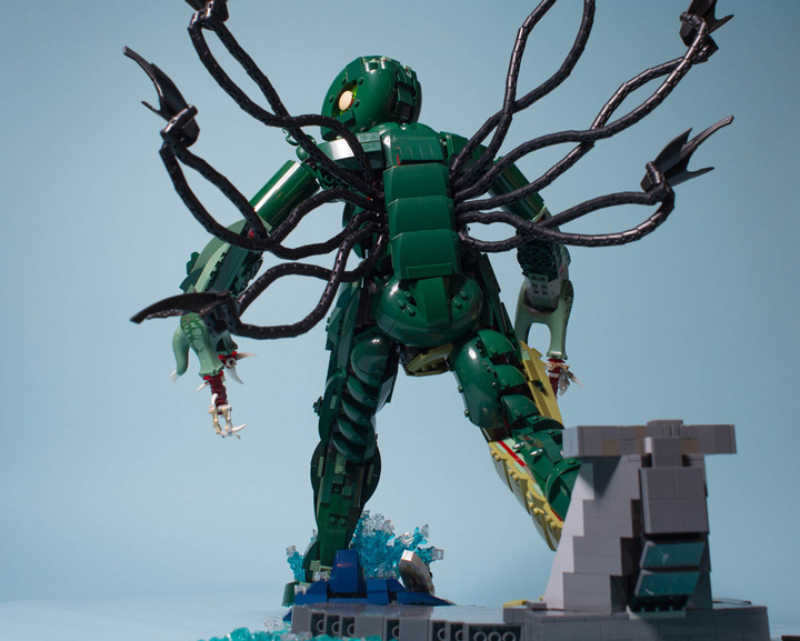Carl Merriam's The Madness From The Sea, Lego Cthulhu Back