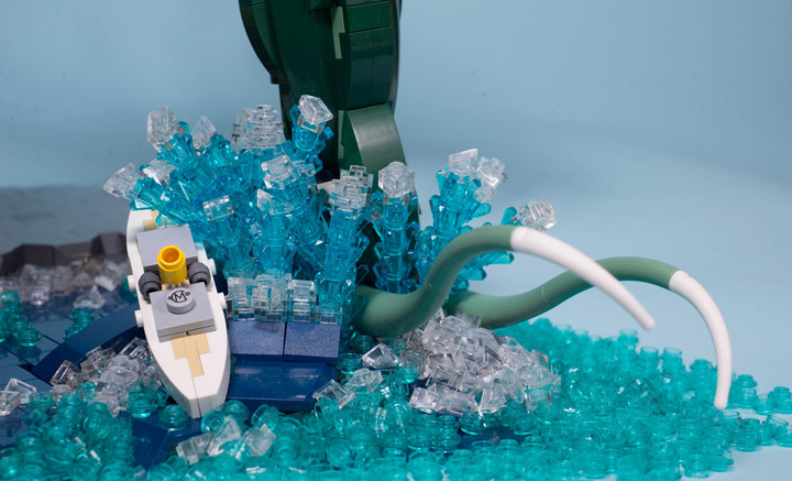 Carl Merriam's The Madness From The Sea, Lego Cthulhu Foot