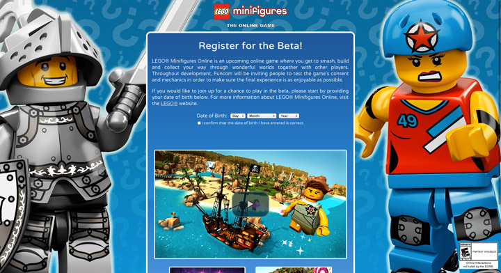 Lego Minifigures Online Beta Video Game