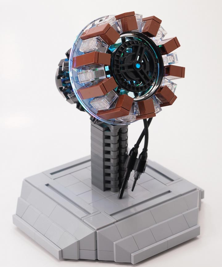 A Lego Replica Iron Man Arc Reactor
