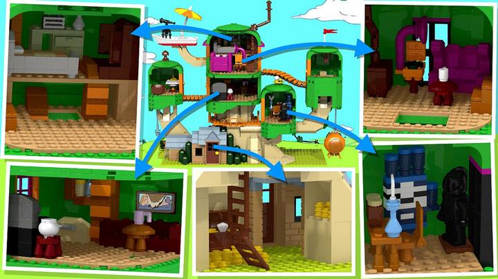 jazlecraz's Lego Cuusoo, The Adventure Time Project Treehouse