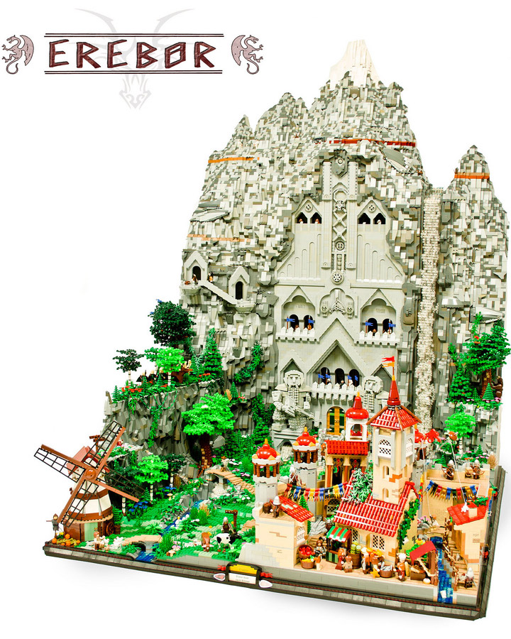 Blake Baer and Jack Bittner's Lego Erebor. The Hobbit.