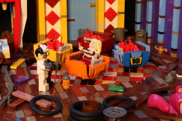 Brickbaron's Lego Batman and Robin, Joker's Funhouse, Two Face