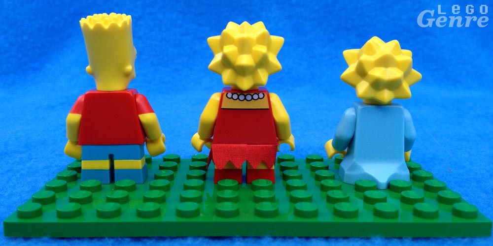 LegoGenre: Bart, Lisa, Maggie Minifigure Backs