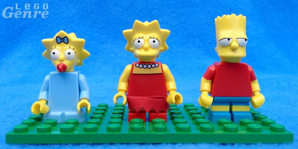 LegoGenre: Bart, Lisa, Maggie.