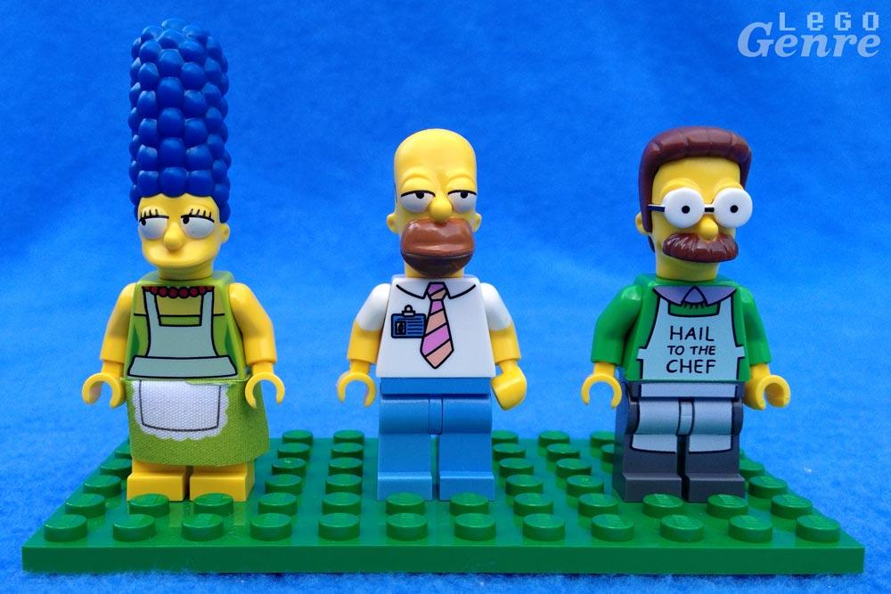 LegoGenre: Marge, Homer, Ned.