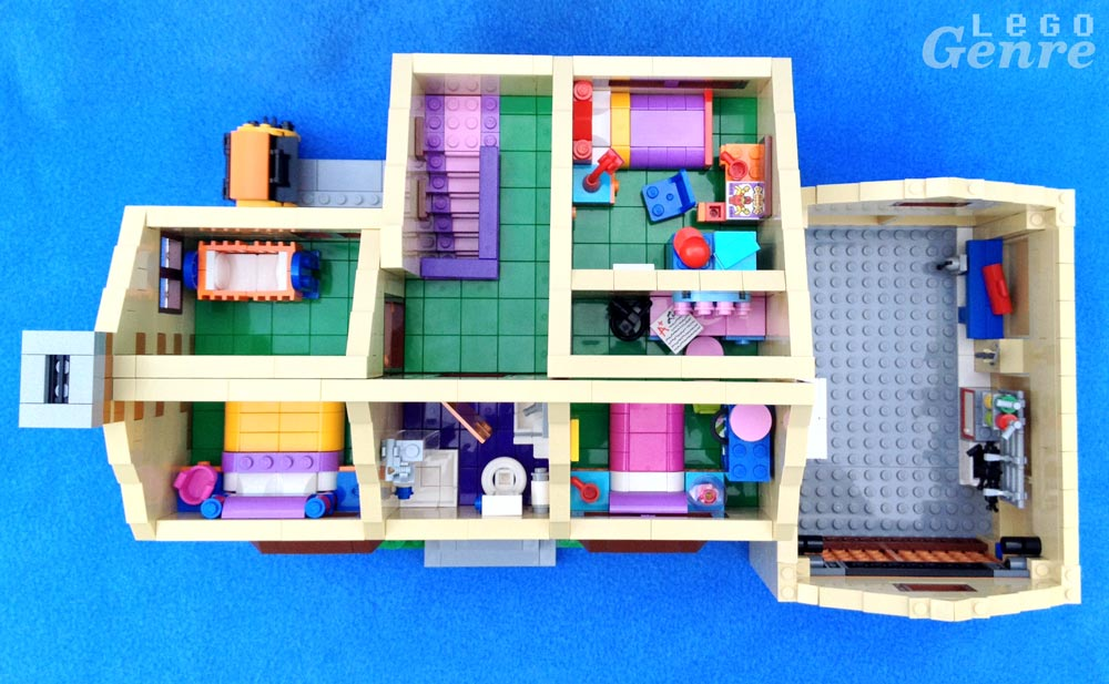 LegoGenre: The Simpsons House Review Floorplan (71006)