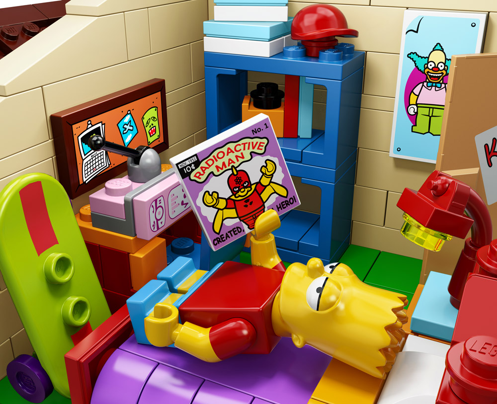 Simpsons House Lego Barts Room