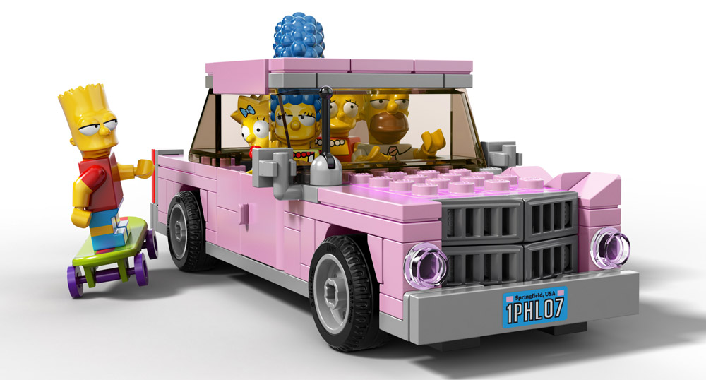 Simpsons Lego Car