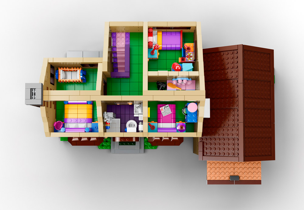 Lego Simpsons House Overhead 71006