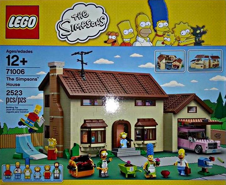 revealed the simpsons house 71006 in lego