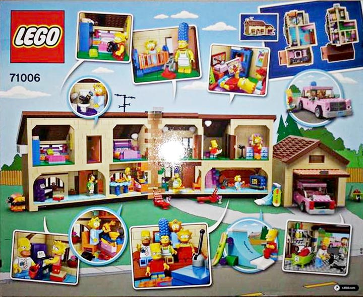 The Lego Simpsons House 71006 Box