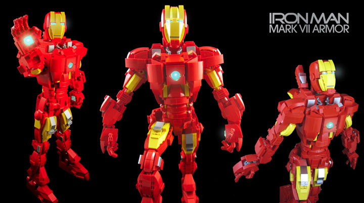 mmccooey's Iron Man Mark VII Armor Lego Figure
