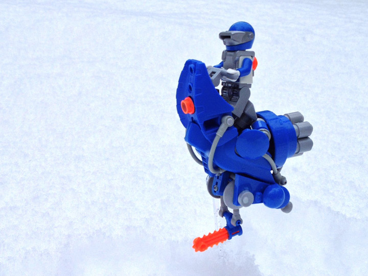 A Plastic Infinity's High Velocity Ice Cutting Speeder on Ice Planet