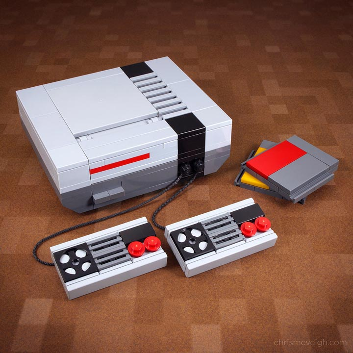 My first game console sprite edition a lego nes for Consolle lago