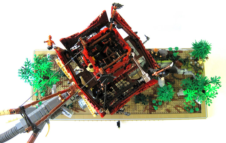 Elliott Feldman's Orthanc Bracket: The Lego Oliphant Birds Eye View