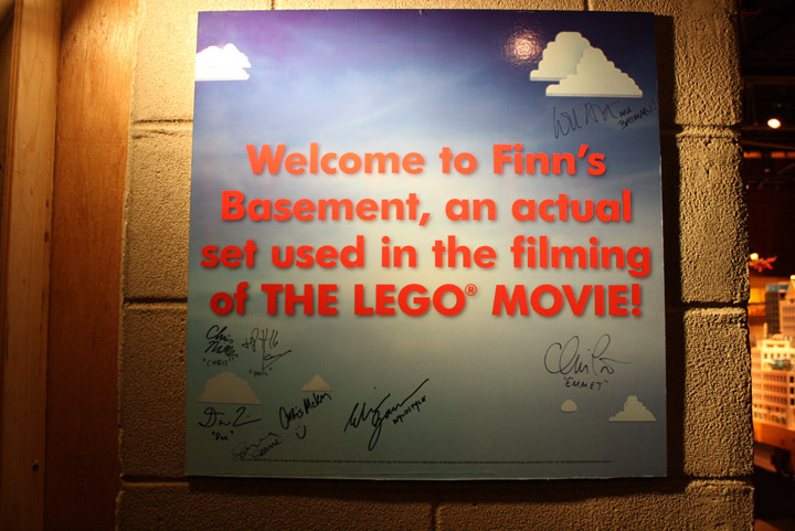 finn s basement the lego movie set is at legoland california