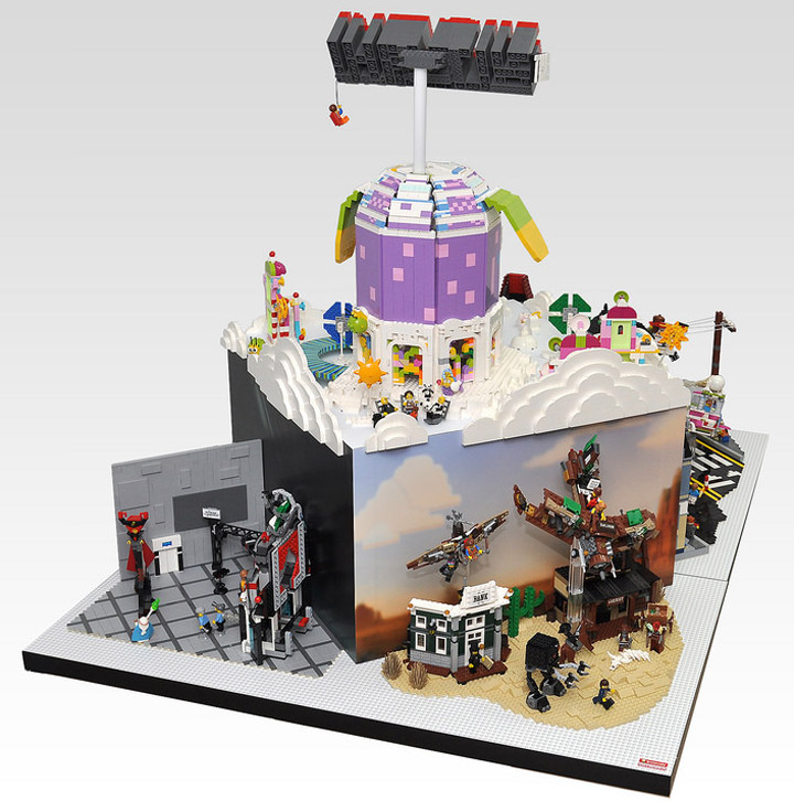 OliveSeon's The Lego Movie Diorama Backside