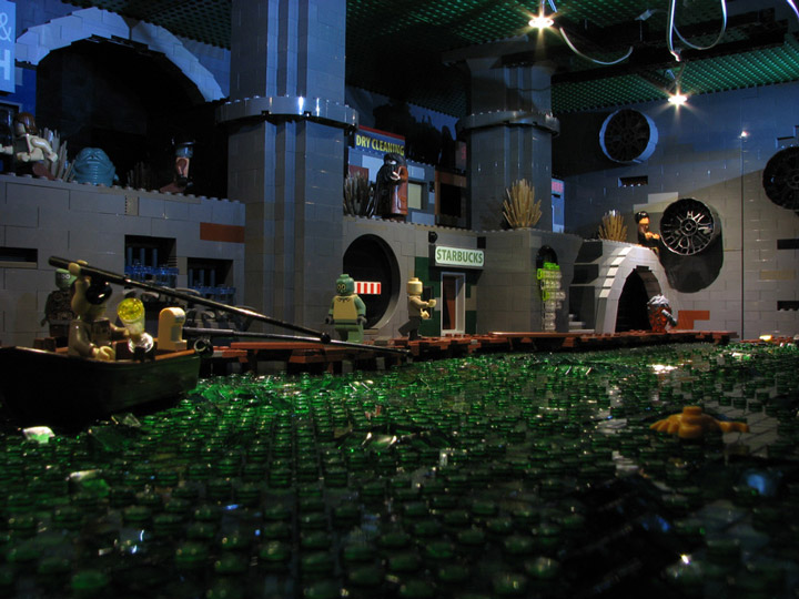 PepaQuin's Lego Futurama: The World of Tomorrow. New New York Sewers.