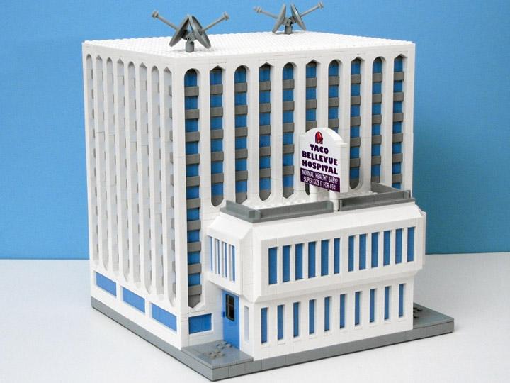 PepaQuin's Lego Futurama: The World of Tomorrow. Taco Bellevue Hospital.