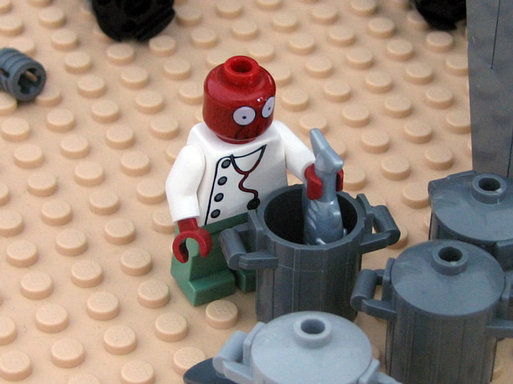 PepaQuin's Lego Futurama The World of Tomorrow. Zoidberg.