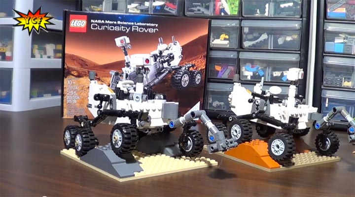 YCF LegoReviews: Curiosity Rover 21104 Comparison