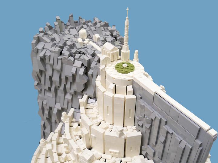 lisqr's Lego Minas Tirith Micro Scale Top