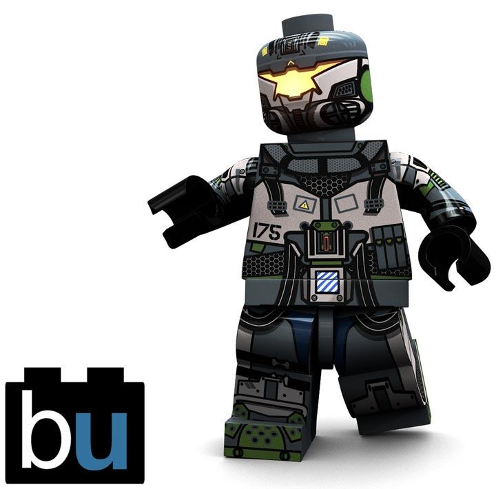 BrickUltra's Custom Lego Minifigure: MechPilot