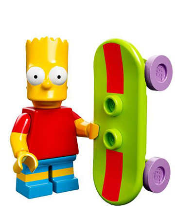 Lego Simpsons Collectible Minifigures Bart Simpson