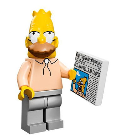 Lego Simpsons Collectible Minifigures Grandpa Simpson