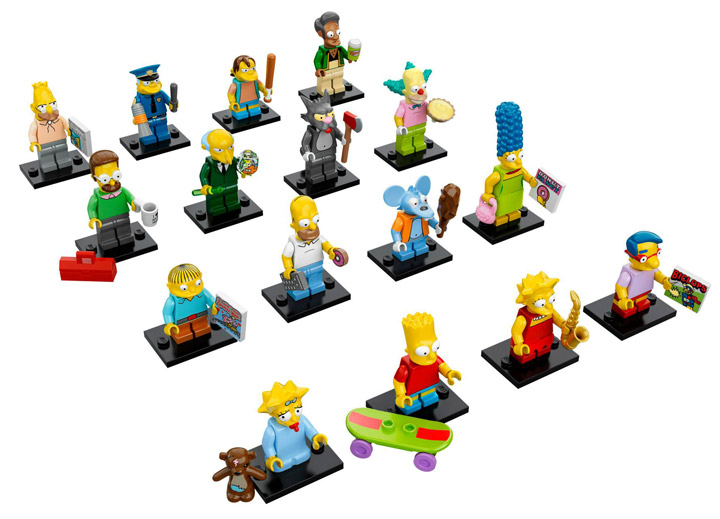 Lego Simpsons Collectable Minifigures Group