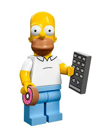 Lego Simpsons Collectible Minifigures Homer Simpson