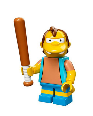 Lego Simpsons Collectible Minifigures Montgomery Nelson