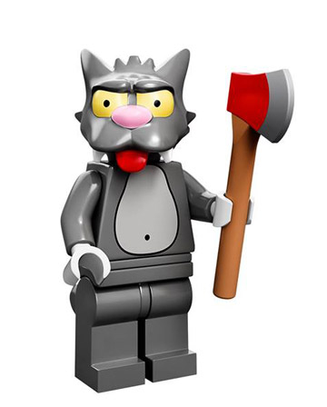 Lego Simpsons Collectible Minifigures Montgomery Scratchy