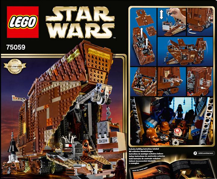 Lego Star Wars Sandcrawler 75059 Box Back