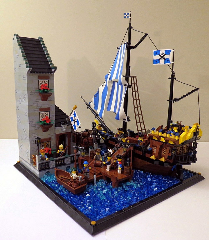 Mattiusxavier's Port of Quebec, A Lego Pirate MOC