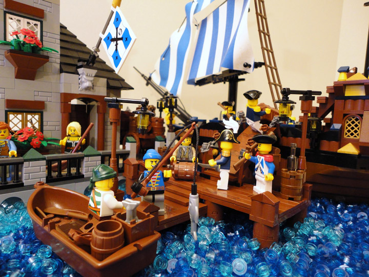 Mattiusxavier's Port of Quebec, A Lego Pirate MOC Detail