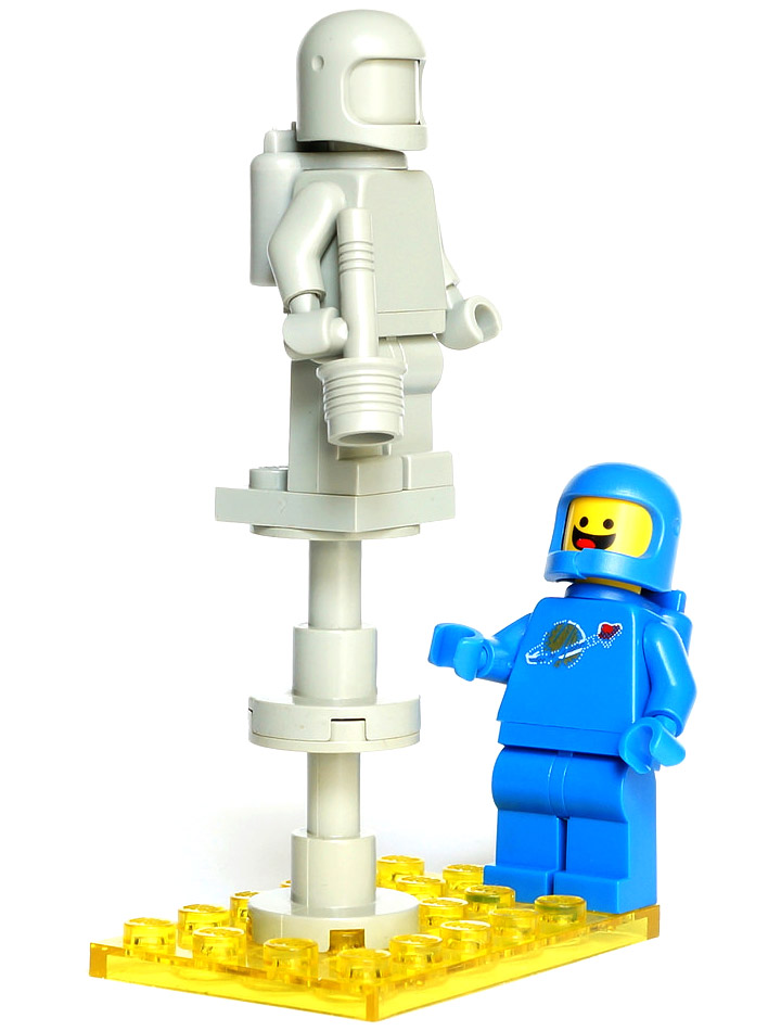 Vanjey Lego's Bennys Celebration, a Classic Spaceman Statue