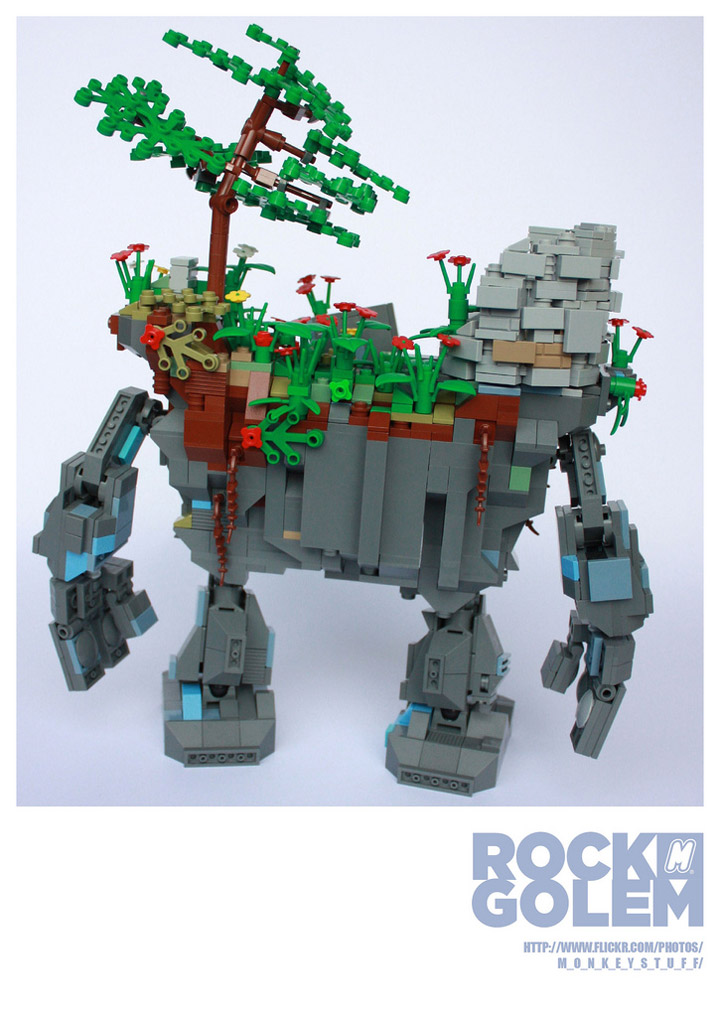 m_o_n_k_e_y's Lego Rock Golem Backside