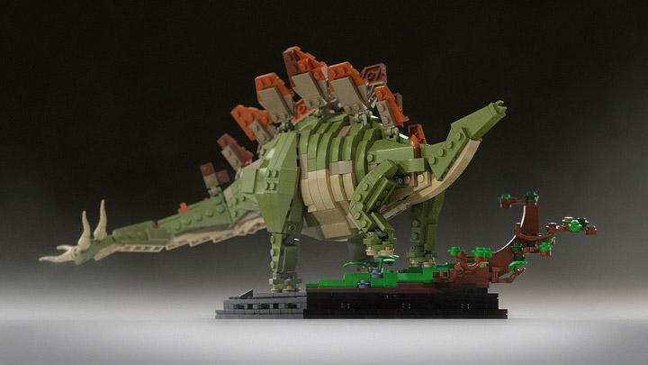 senteosan's Bricksauria Stegosaurus