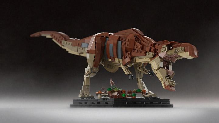 senteosan's Bricksauria Tyrannosaurus Rex