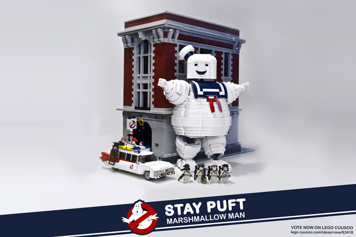 BrentWaller's Lego Ghostbusters: Stay Puft Marshmallow Man Set