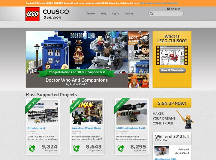 Lego CUUSOO Closed, is now Lego Ideas