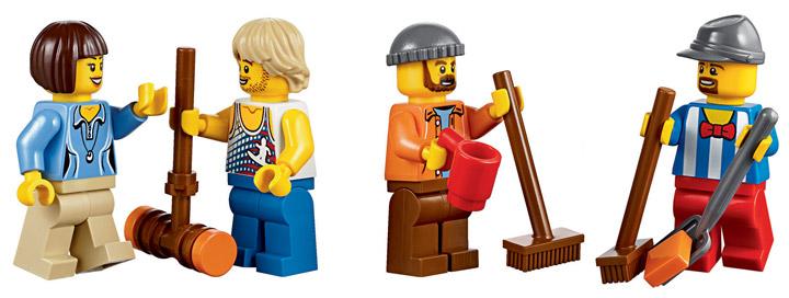 Lego Fairground Mixer 10244 Minifigs