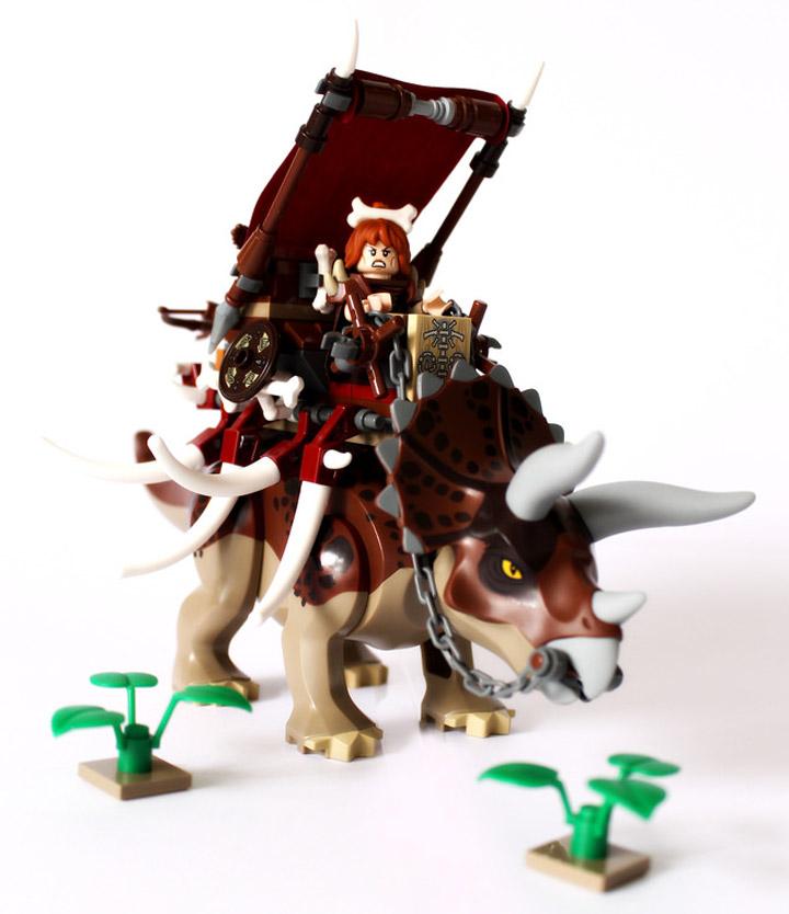 Steven Woolfe's Lego Prehistorica: Stonetooth Triceratops Thunderbeast