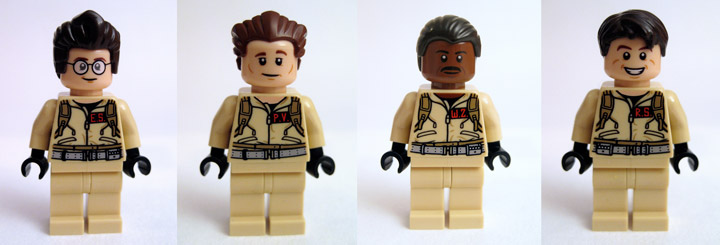 DrDaveWatford's Lego Ghostbusters Review 21108 Minifigures
